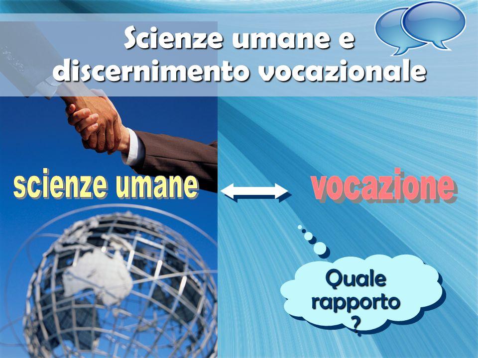 Scienze umane e discernimento vocazionale