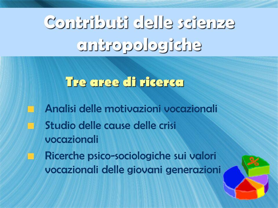 Contributi delle scienze antropologiche