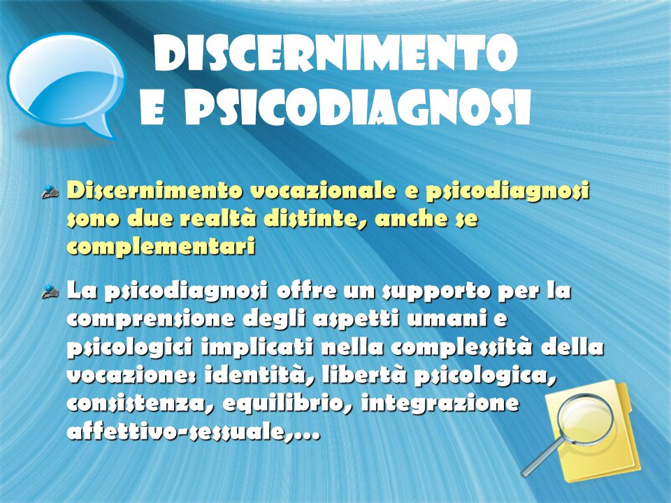 DISCERNIMENTO E PSICODIAGNOSI