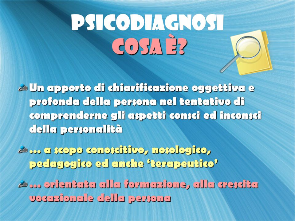 PSICODIAGNOSI cosa è