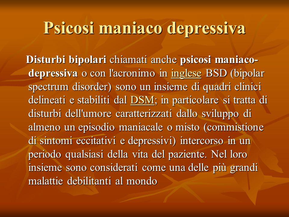 Psicosi maniaco depressiva