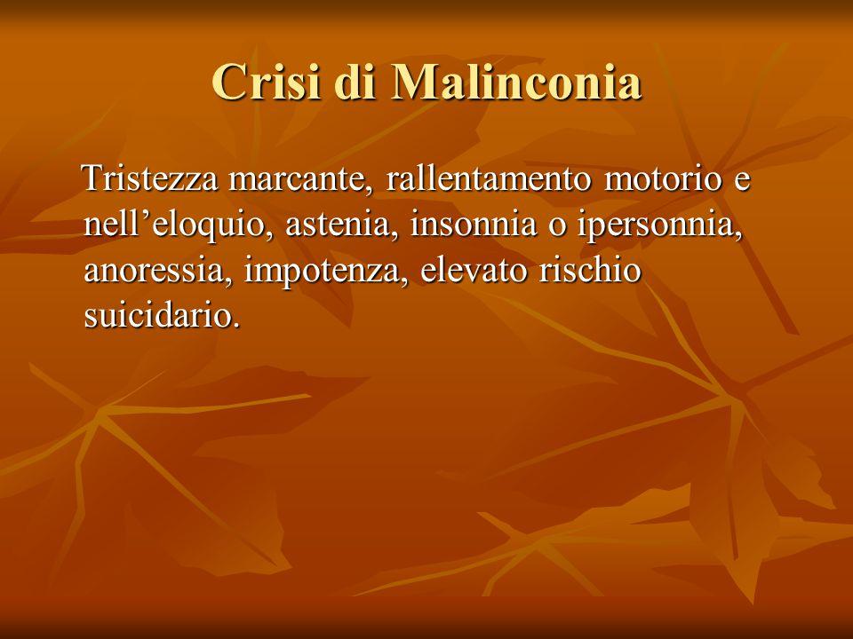 Crisi di Malinconia