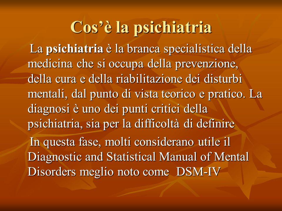 Cos'è la psichiatria