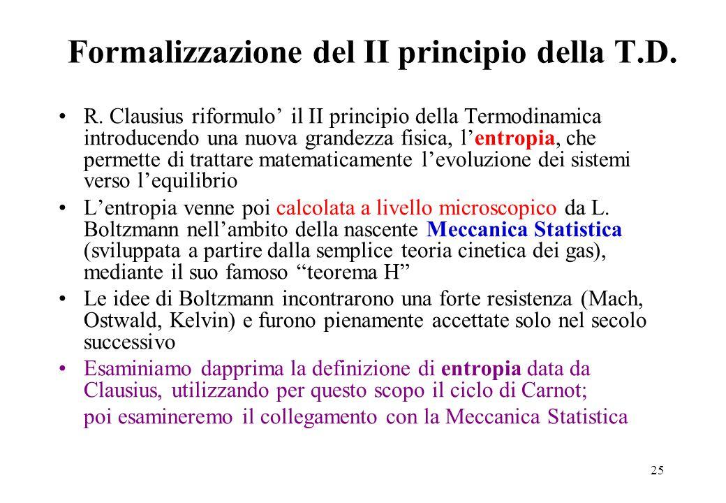 Formalizzazione del II principio della T.D.