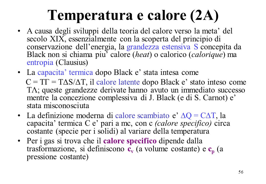 Temperatura e calore (2A)