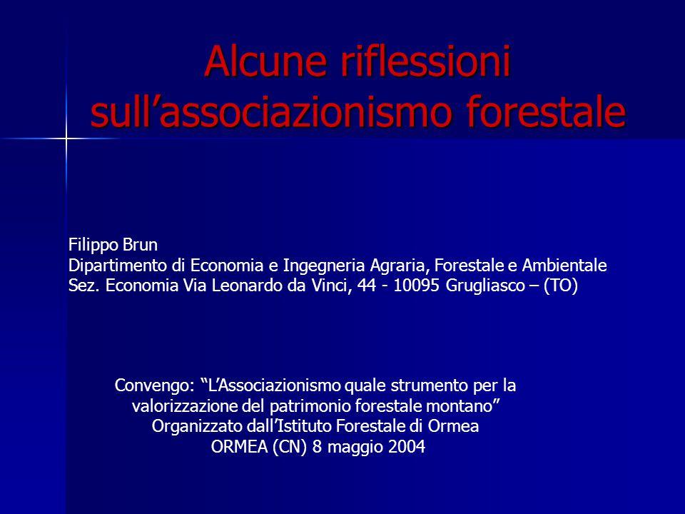 Alcune riflessioni sull'associazionismo forestale