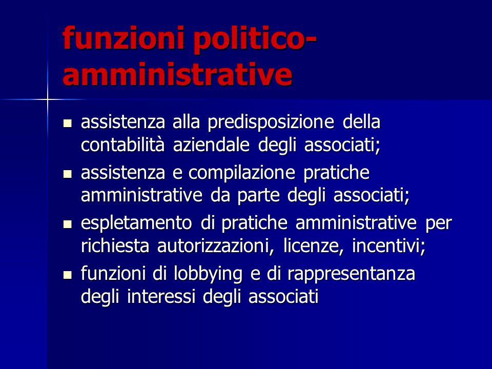 funzioni politico-amministrative