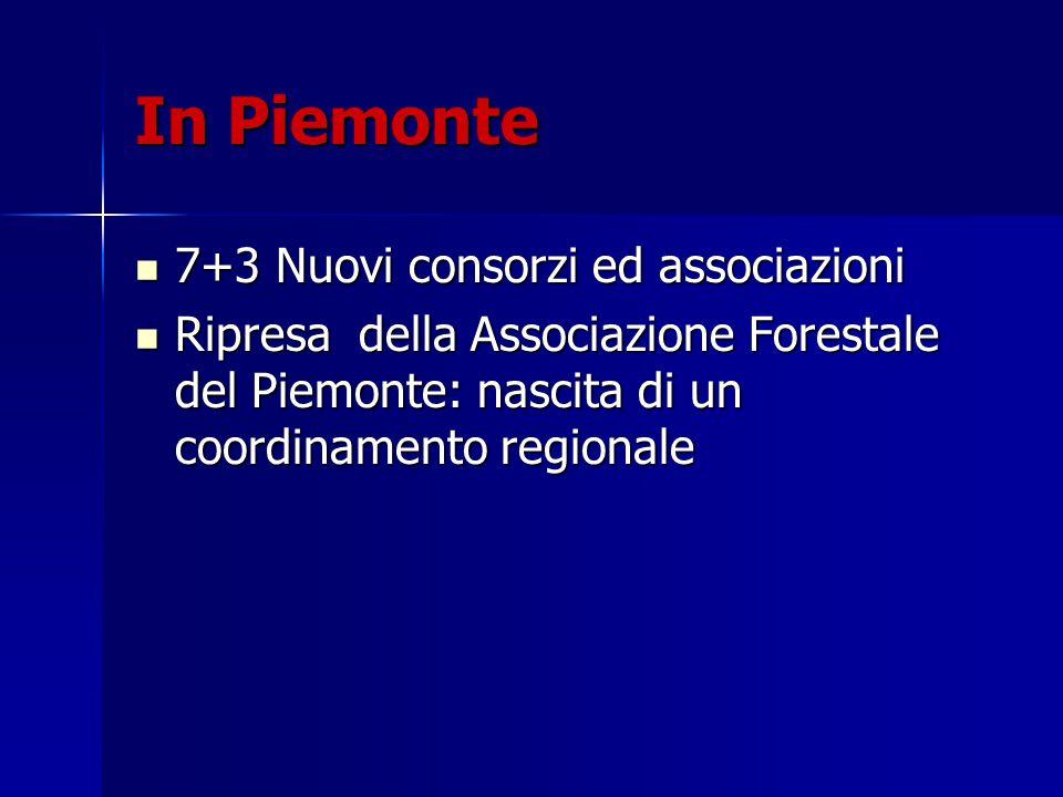 In Piemonte 7+3 Nuovi consorzi ed associazioni