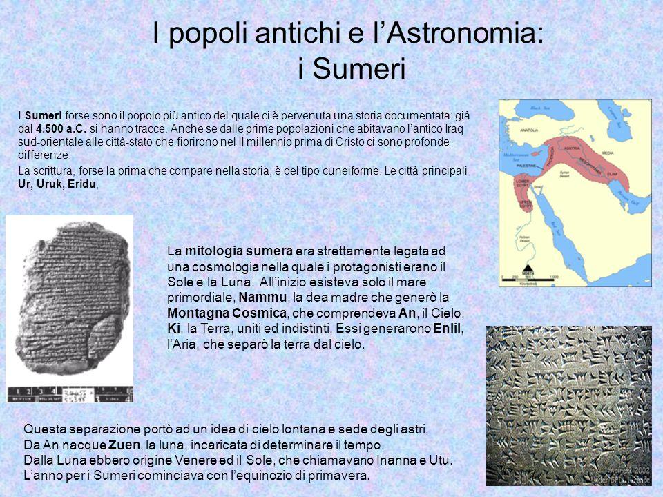 I popoli antichi e l'Astronomia: i Sumeri