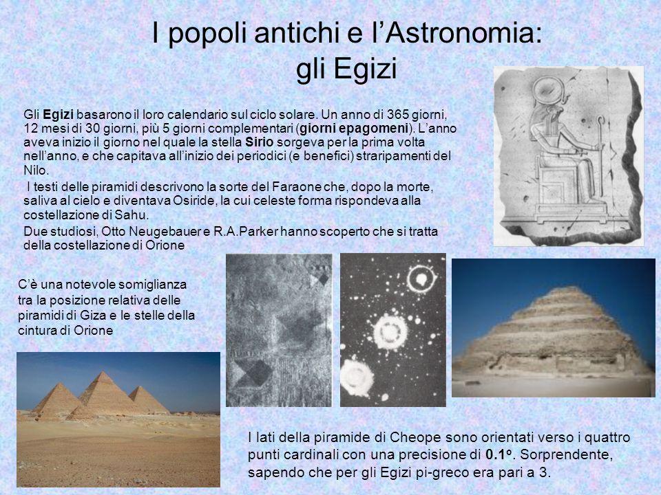 I popoli antichi e l'Astronomia: gli Egizi