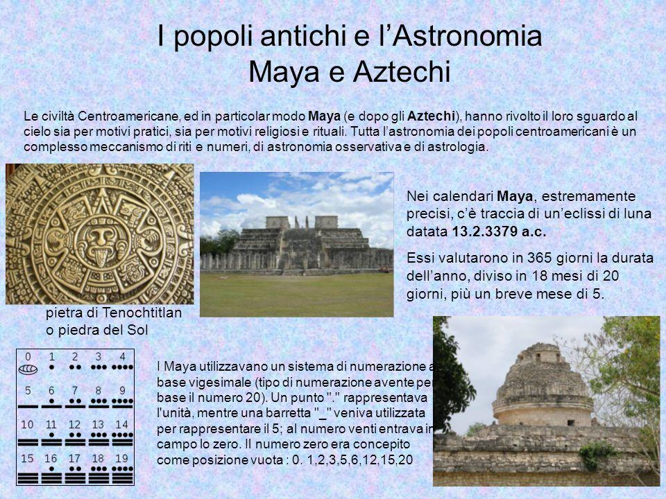I popoli antichi e l'Astronomia Maya e Aztechi