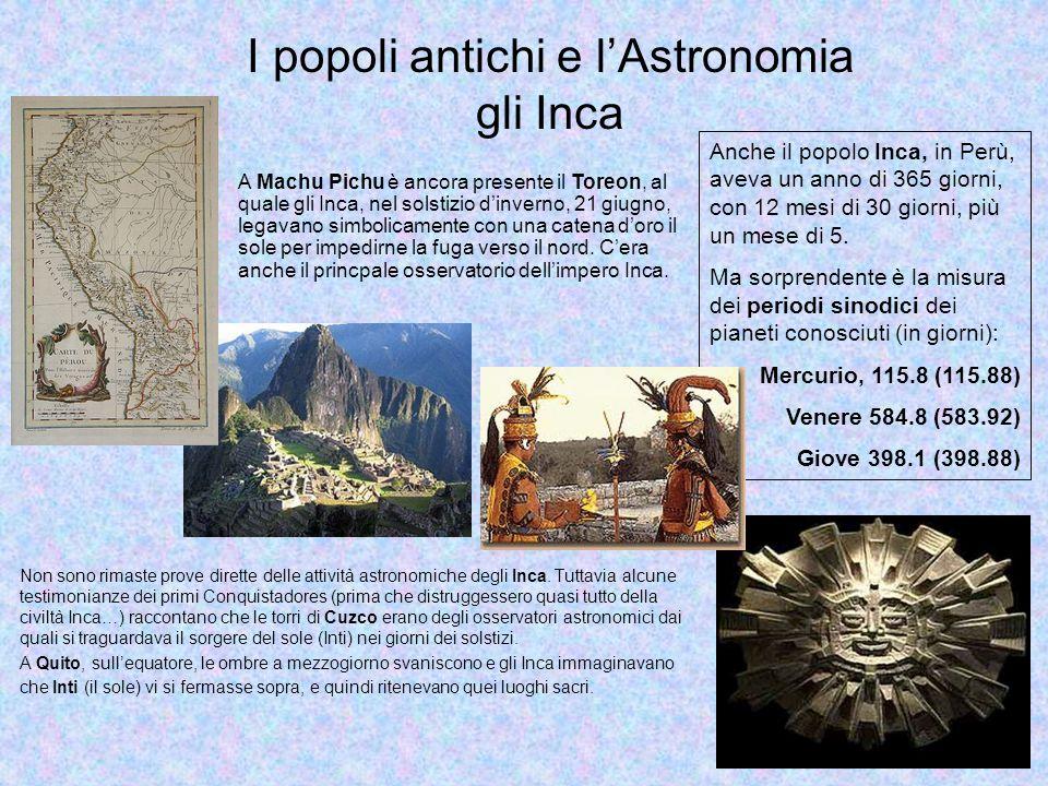 I popoli antichi e l'Astronomia gli Inca