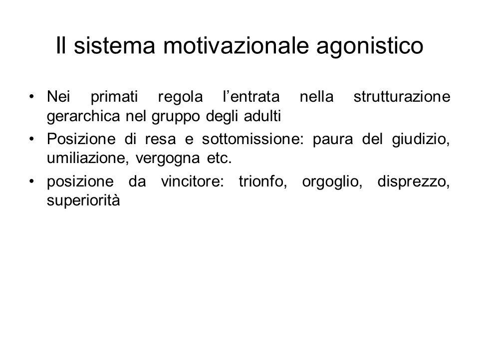 Il sistema motivazionale agonistico
