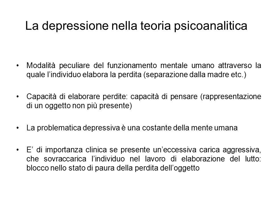 La depressione nella teoria psicoanalitica