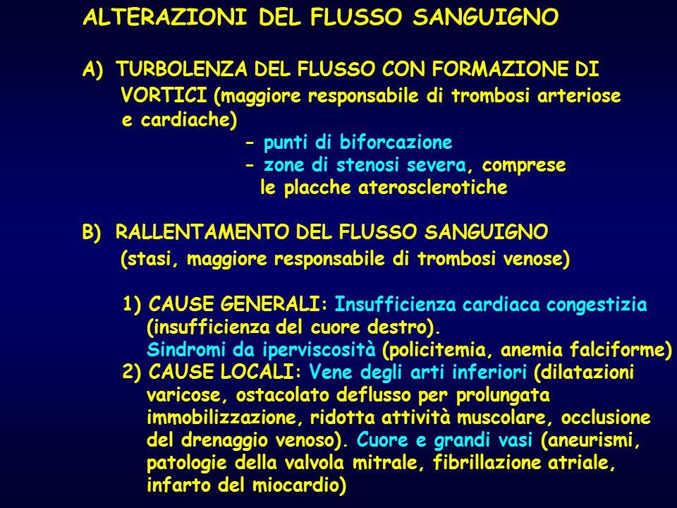ALTERAZIONI DEL FLUSSO SANGUIGNO