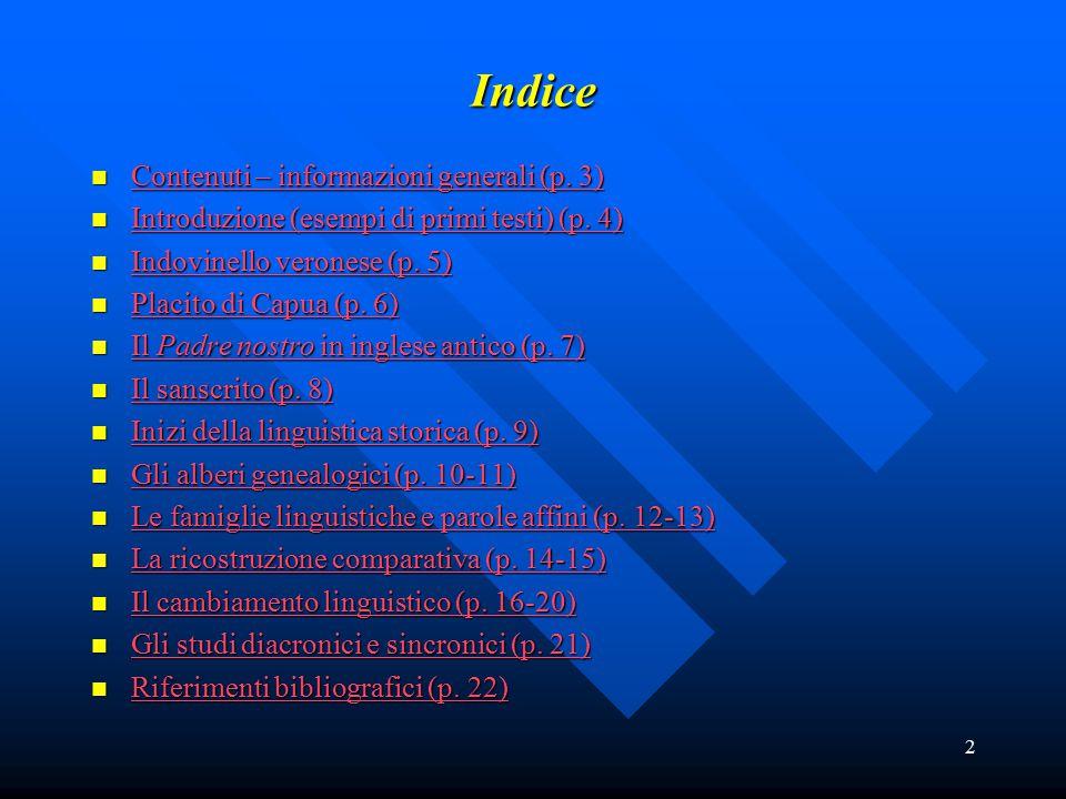 Indice Contenuti – informazioni generali (p. 3)