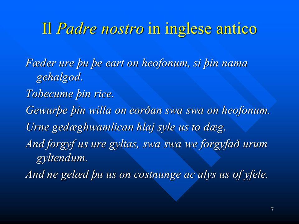 Il Padre nostro in inglese antico