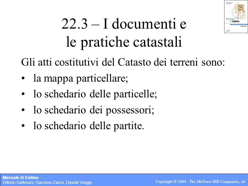 22.3 – I documenti e le pratiche catastali