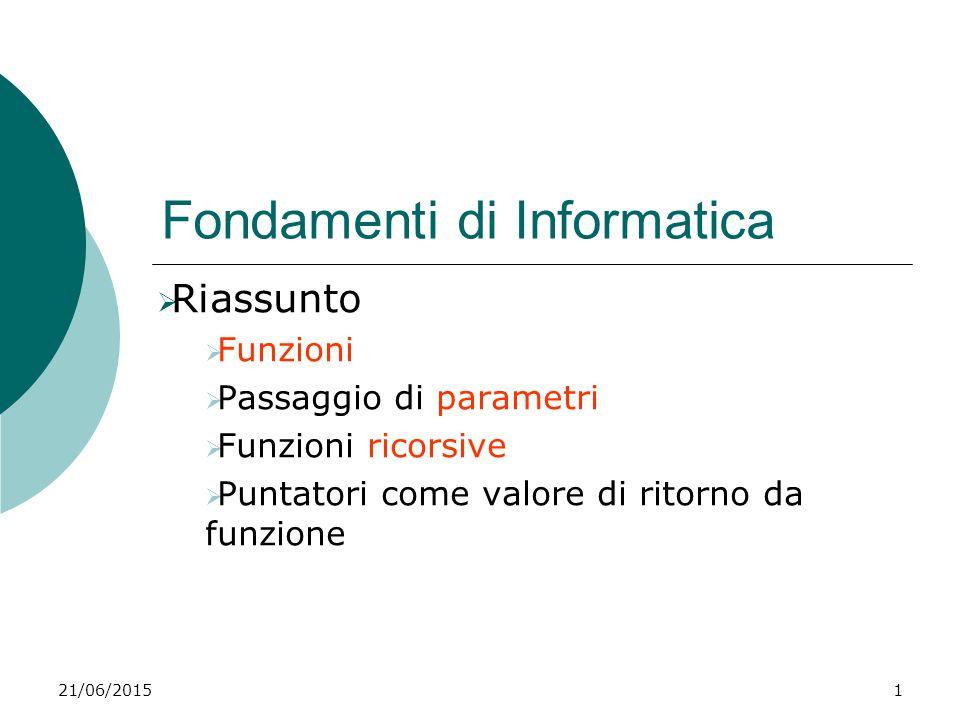 Fondamenti di Informatica