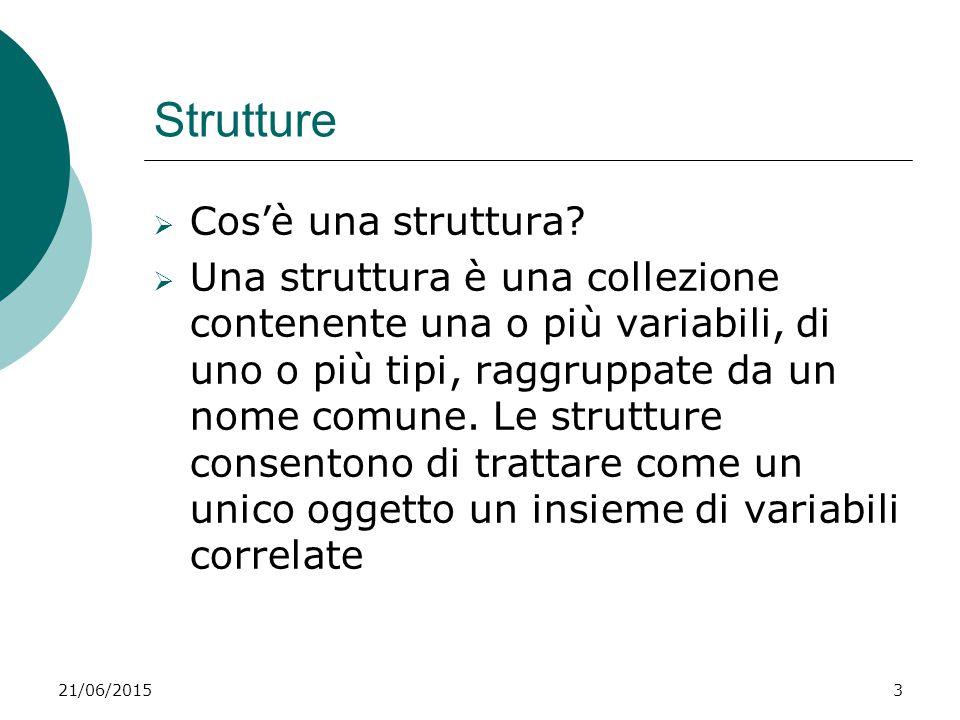 Strutture Cos'è una struttura