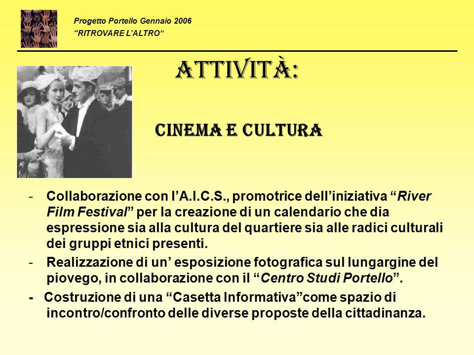 Attività: Cinema e cultura