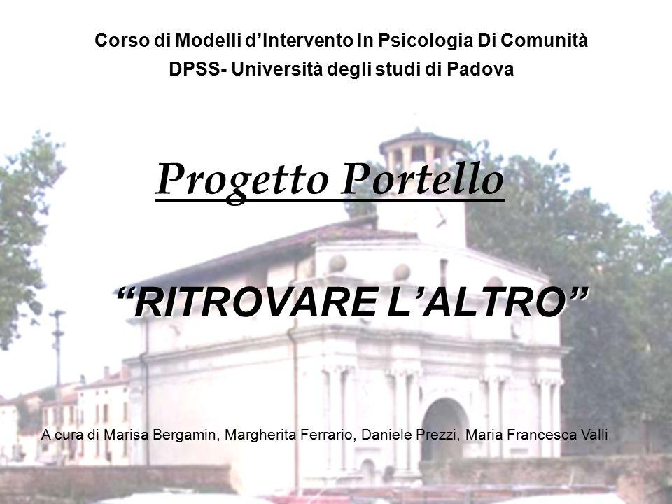 Progetto Portello RITROVARE L'ALTRO