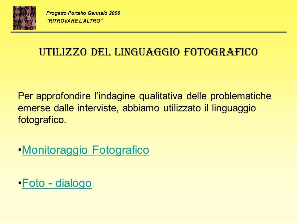 Utilizzo del linguaggio fotografico