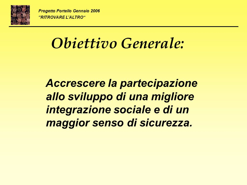 Progetto Portello Gennaio 2006