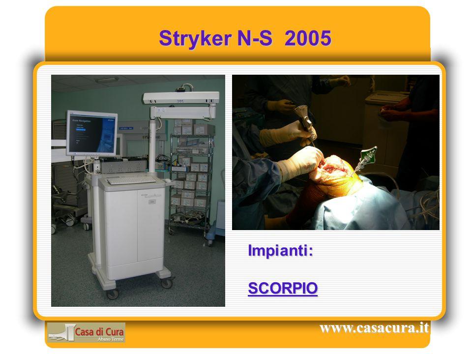 Stryker N-S 2005 Impianti: SCORPIO www.casacura.it