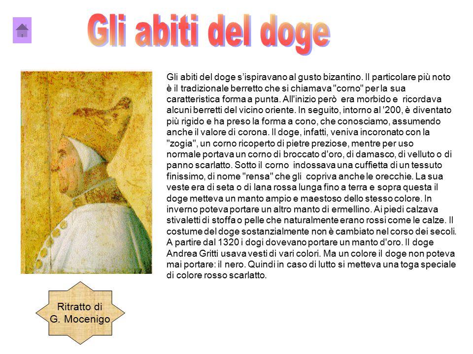 Gli abiti del doge Ritratto di G. Mocenigo