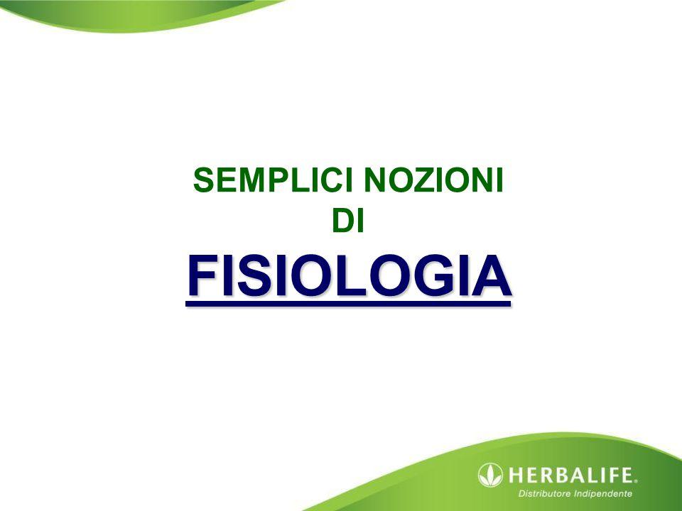 SEMPLICI NOZIONI DI FISIOLOGIA