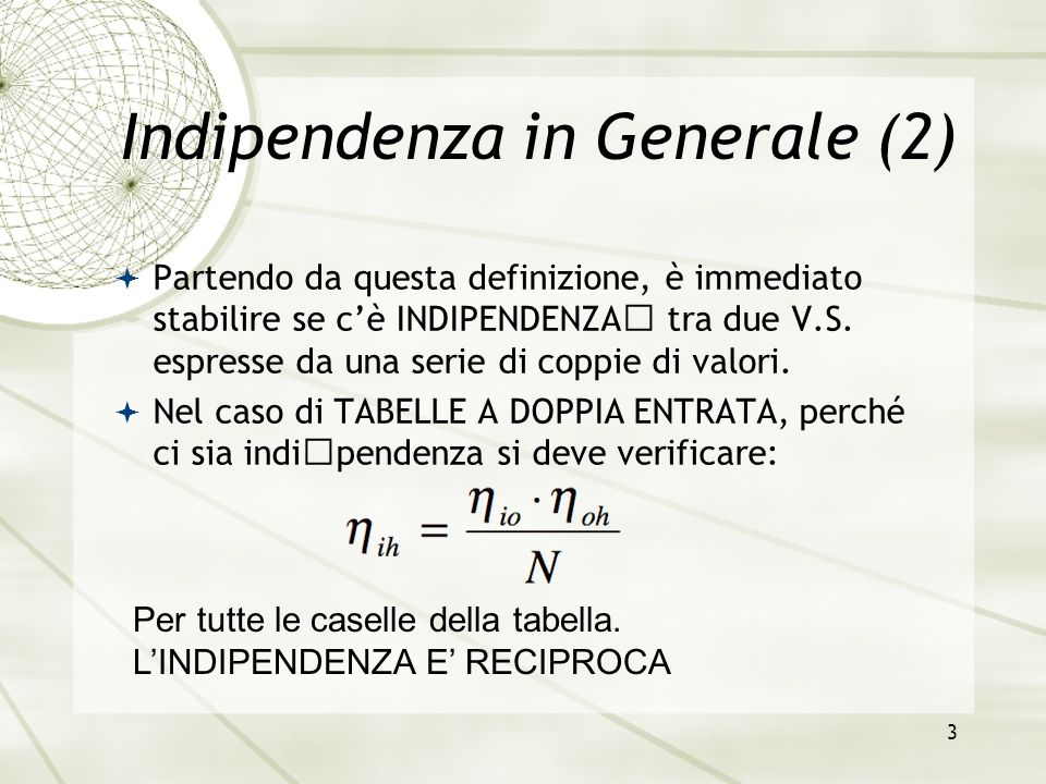 Indipendenza in Generale (2)