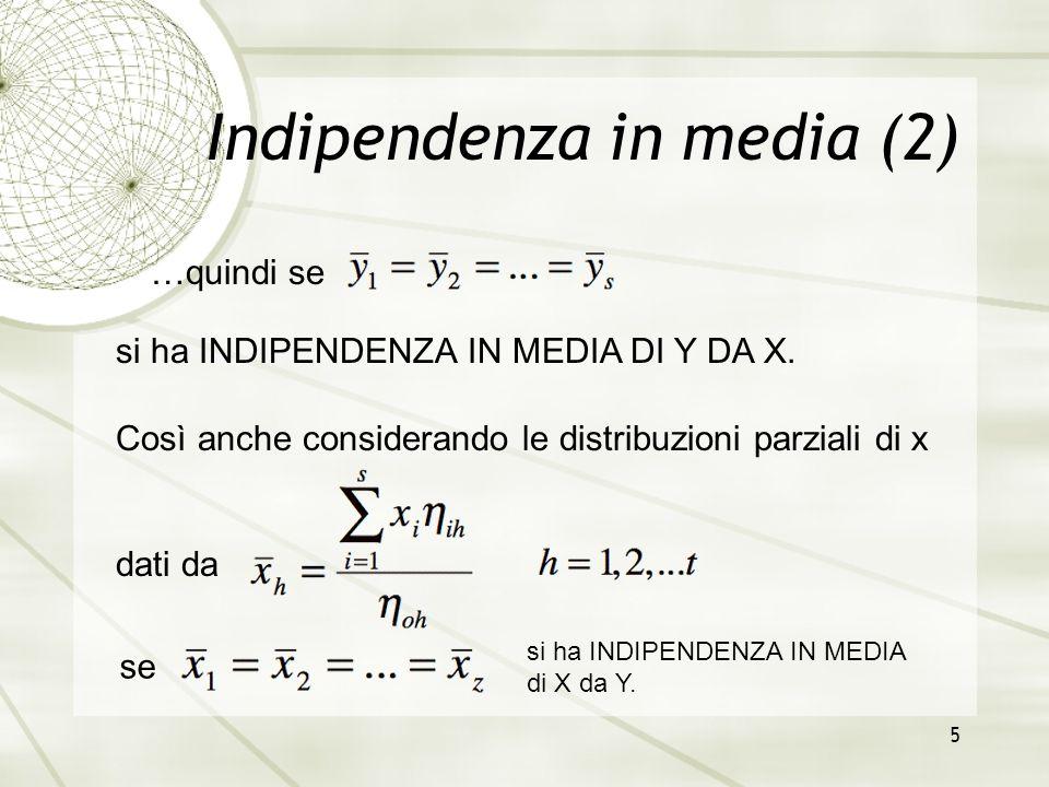 Indipendenza in media (2)