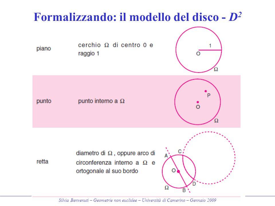 Formalizzando: il modello del disco - D2