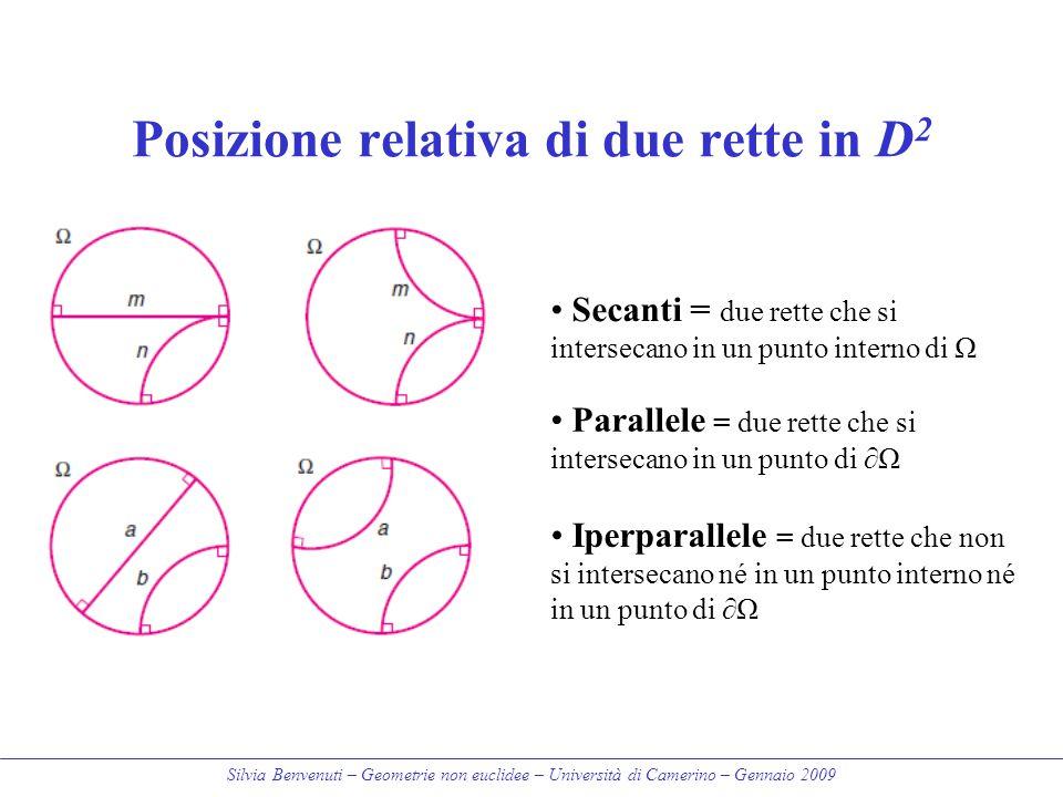 Posizione relativa di due rette in D2