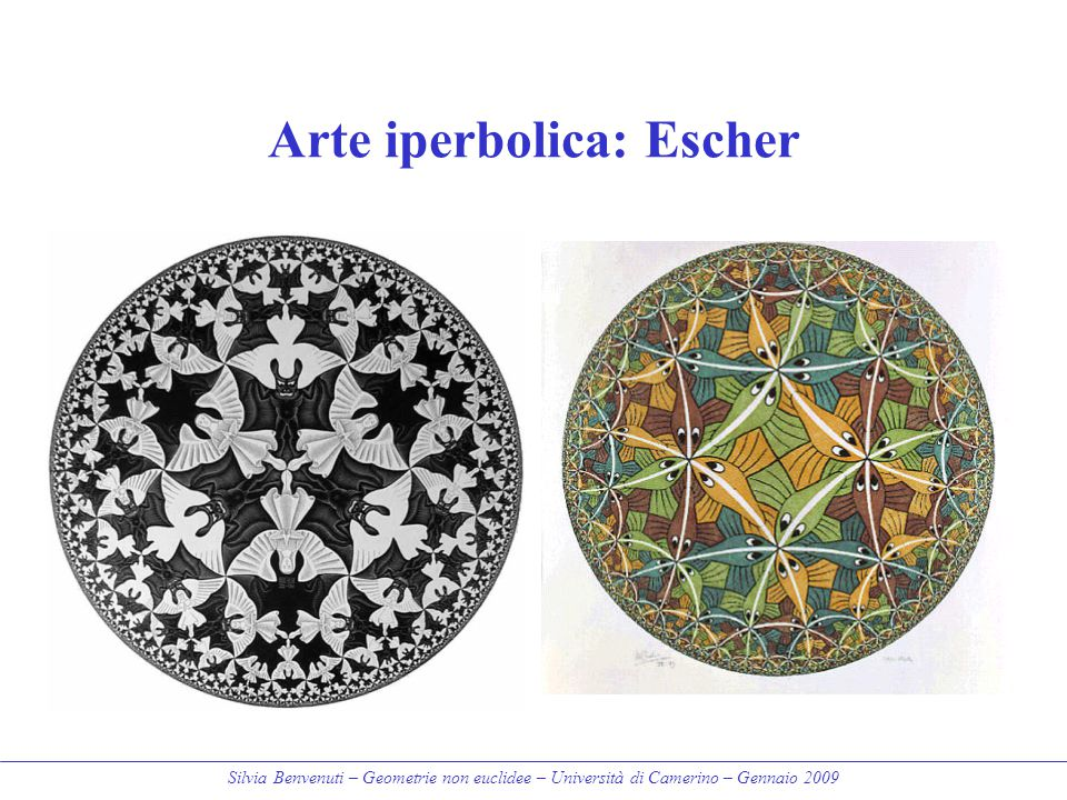 Arte iperbolica: Escher