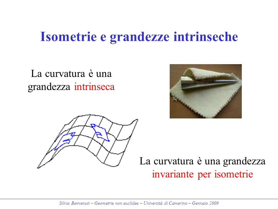 Isometrie e grandezze intrinseche