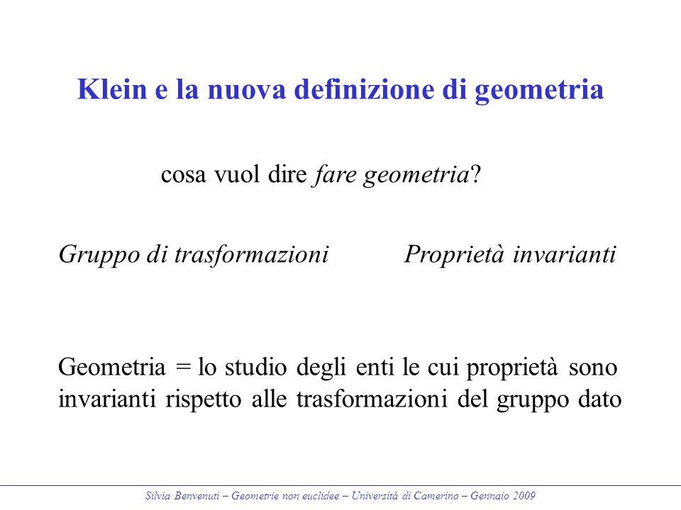 Klein e la nuova definizione di geometria