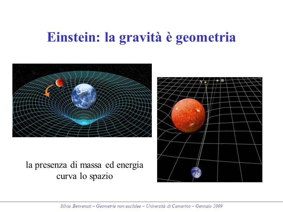 Einstein: la gravità è geometria