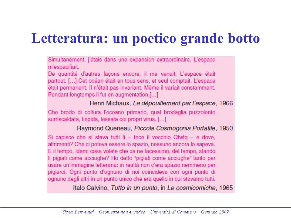 Letteratura: un poetico grande botto