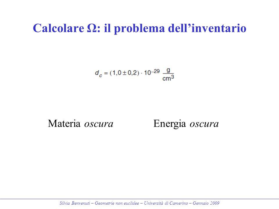 Calcolare Ω: il problema dell'inventario