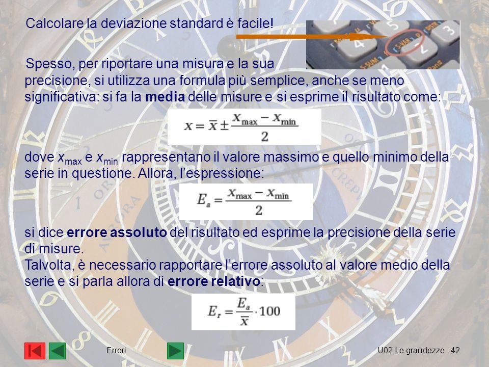 Calcolare la deviazione standard è facile!