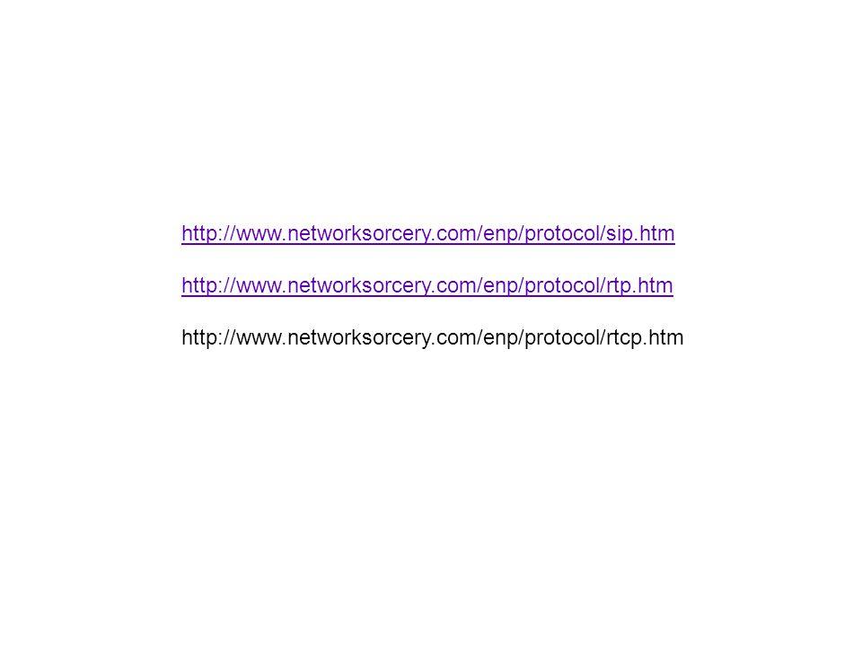 http://www.networksorcery.com/enp/protocol/sip.htm http://www.networksorcery.com/enp/protocol/rtp.htm.