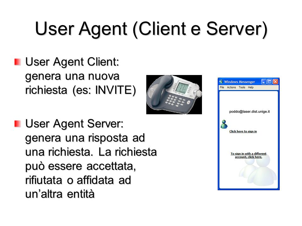 User Agent (Client e Server)