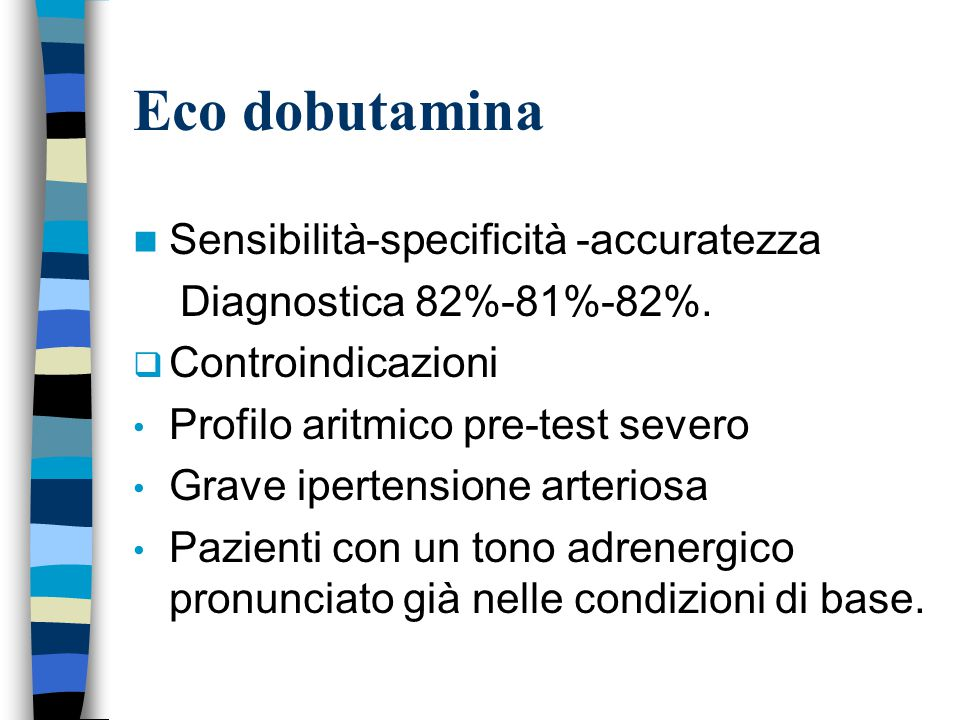 Eco dobutamina Sensibilità-specificità -accuratezza