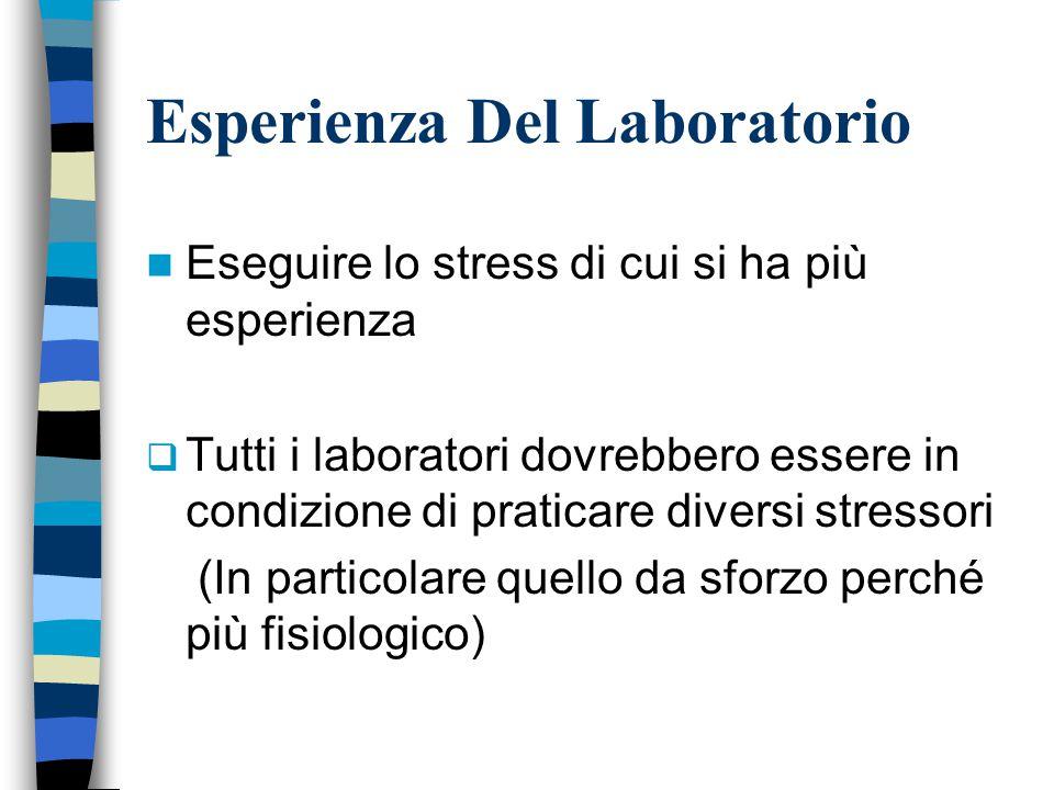 Esperienza Del Laboratorio