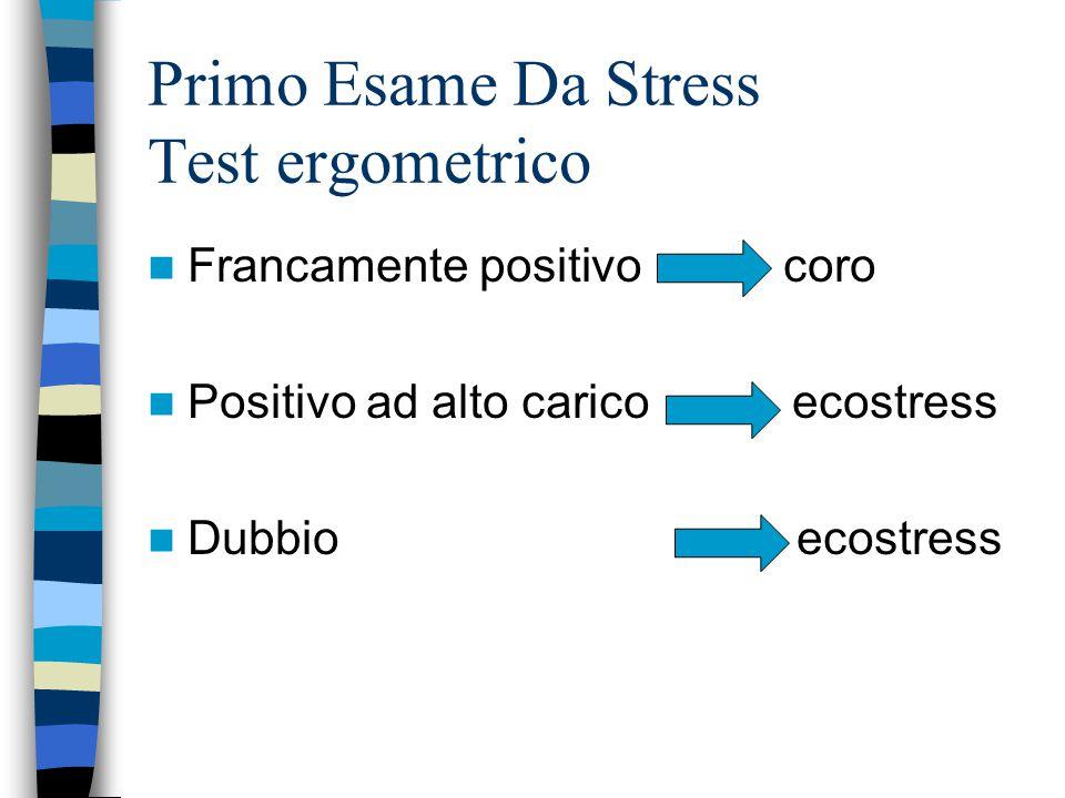 Primo Esame Da Stress Test ergometrico