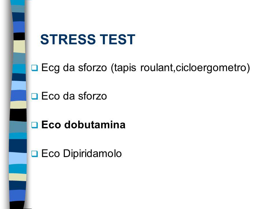 STRESS TEST Ecg da sforzo (tapis roulant,cicloergometro) Eco da sforzo