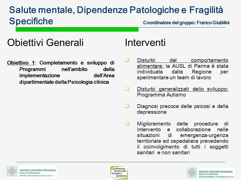 Obiettivi Generali Interventi
