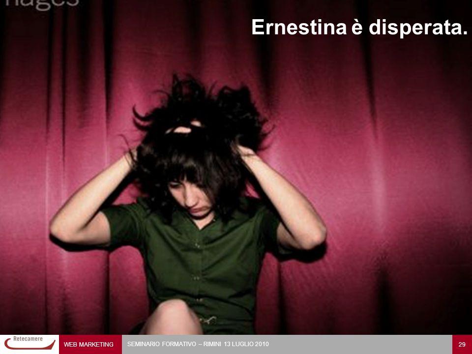 Ernestina è disperata.